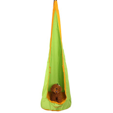 Green Kids Children Hammock Pod Swing Hanging Set Inflatable Chair Seat Tent Outdoor - intl