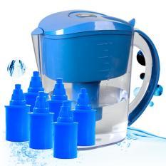 Green Pal Alkaline Water Filter 3 5L Pitcher Blue 6 Cartridges Deal