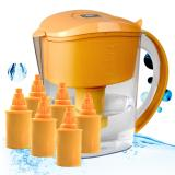 Best Deal Green Pal Alkaline Water Filter 3 5L Pitcher Orange 6 Cartridges