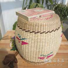 Environmentally Friendly Pastoral Straw Stool Round Stool Footstool Tatami Stool Drum Hand-woven Stool
