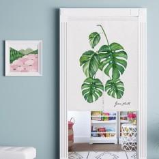 Green Plants Cotton Linen Door Curtain Bathroom Kitchen Partition Curtains Bedroom Hanging Room Dividers & Screens 80x90cm - intl