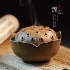 Discount Green Shen Dehua Antique Ceramic Lotus Core Sandalwood Furnace Incense Holder Line Incense Burner Plate Incense Censer Incense Road Tea Temple Room Oem China