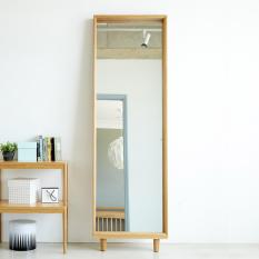 Guri Oak Signature Standing Mirror from Korea / Featured in Korean Drama Variety Shows