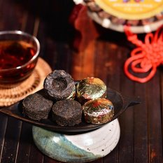 Gx Mini Tuo Puer Tea From Yunnan China Ripe Raw Roasted Puerhtastes 100G Gold Int L Intl In Stock