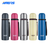 Best Haers 500Ml Thermal Cup 18 8 Stainless Steel Glass Liner Vacuum Flask Tumbler Water Bottle Cup Thermos Red