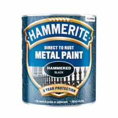 Hammerite Direct to Rust Metal Paint Hammered Finish (Black) 250ml