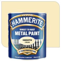 Sale Hammerite Direct To Rust Metal Paint Smooth Finish 750Ml Cream Singapore Cheap