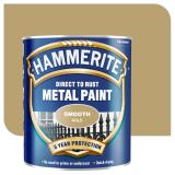 Retail Price Hammerite Direct To Rust Metal Paint Smooth Finish 750Ml Gold