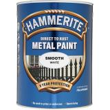 Hammerite Direct To Rust Metal Paint Smooth Gloss Finish 750Ml Exterior Interior Smooth White Shop