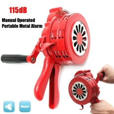 Handheld Loud Hand Crank Manual Operated Air Raid Alarm Portable Siren Red - Intl By Audew.
