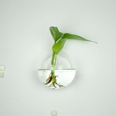 Hanging glass vase glass terrarium vase for hydroponics garden Style H - intl