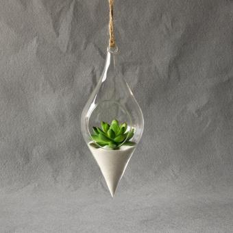 Hanging Glass Vase Hanging Terrarium Plant Clear Hanging Vase Home Decor