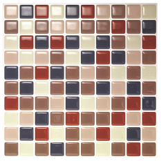 Hanhwa L&C Bodaq D.I.Y Tile Sheet SQW01 Square Style Pack of 10 (Red Navy)