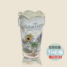 Compare Hao Yang Metal Pots Flower Barrels American Country Metal Flower Bucket Flower Barrel Home Ornaments Creative Flower