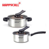 Sale Happy Call Stainless Steel 2 Pot Set 16 20Cm Available In Induction Stove Happycall Pot Made In Korea Korea Food Cookware Fry Pan Wok Kitchen Dining Happy Call Wholesaler