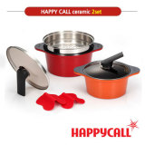 Low Cost Happycall Alumite Ceramic 2 Pots B Set Configuration 20Cm Two Hand Pot 24Cm Deep Pot Made In Korea