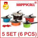 Sale Happycall Korea Alumite Ceramic Pot 5 Set Multicolor Happy Call Cheap