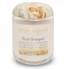 Heart & Home Lge Candle 340g: Pearl Bouquet
