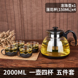 Review Heat Resistant Glass Large Capacity Stainless Steel Filter Teapot Tea Pot China