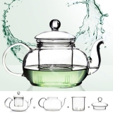 Sale Heat Resistant Glass Teapot Infuser Tea Pot Clear 1000Ml On China