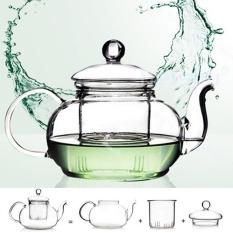 Buy Heat Resistant Glass Teapot Infuser Tea Pot Clear 1000Ml
