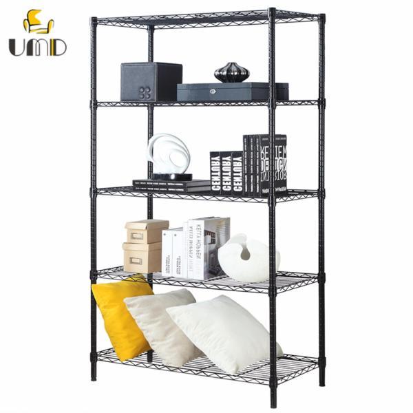 Heavy duty height adjustable Premiere carbon steel storage rack/shelf unit for Living Room/Bedroom/Kitchen