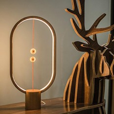Heng Balance Lamp Magnetic switch LED lamp bedroom reading creative night light (Beech) - intl