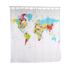 Store Hengsong World Map Shower Curtain Bathroom Curtain Peva Waterproof Shower Curtain Hengsong On China