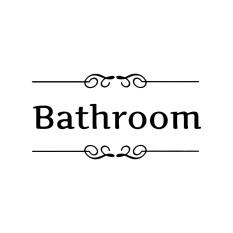 "Hequ Wall Sticker ""Bathroom"" Letter House Decor Removable Vinyl Decal 02 - Intl"