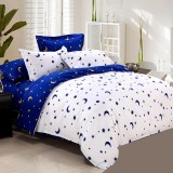 Hi Q S F Q K Size White Star Moon Quilt Cover Intl Lowest Price