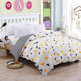 Hi Q S F Q K Size Yellow Blue Triangle Quilt Cover Intl Coupon