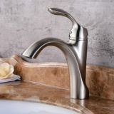 Buy Hiendure Nickel Brushed Waterfall Bathroom Sink Faucet Single Handle Single Hole Vessel Lavatory Faucet Basin Mixer Tap Intl