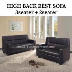 FW High Back 3+2 seater Sofa (Dark Brown)