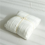 High End Simple Bubble Yarn White Japanese Style Cotton Fitted Bedsheet Deal