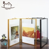 Price Comparisons For High Grade Retro Glass Frame Geometric Copper Frame Wedding Photo Plant Dried Flowers Specimens Certificate Photo Frame Craft Products