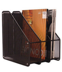 Buying Triple High File Storage Holder Iron Mesh Books And Paper Rack