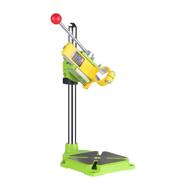 High Precision Electric Power Drill Press Stand Table Rotary Tool Workstation Drill Workbench Repair Tools Clamp Work Station with 0-90 Degree Rotating Fixed Frame for Drilling Collet Table - intl