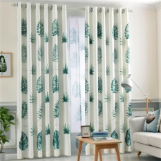 High Quality Cotton and Linen Curtains Semi-Blackout Curtain Bedroom Punching Grommet Thick Window Fabric - intl