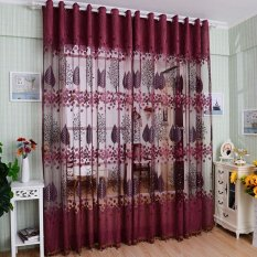 High Quality Jacquard Voile Window Curtains 100 250 Cm Punch Process For Living Room Tulle Home Decoration Curtain Intl Sale