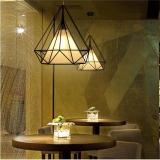 Discounted High Quality Modern Scandinavian Minimalist Bird Cage Pendant Lamps Art Diamond Pyramid Pendant Lights Vintage Iron Rustic Loft Pyramid Lamp Intl