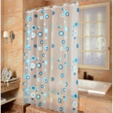 Brand New High Quality Peva Shower Curtain Bathing Bath Curtain Bathroom Curtain 150X180Cm 10 Rings Intl
