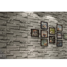 High Quality Promotions Details about 3D 10m Brick Wallpaper Roll White Textured Non-woven Flocking Home Wall Paper 69143 - intl