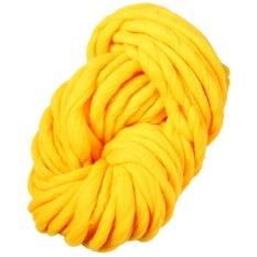 High Quality Sunweb Fashion Arm Knitting Super Chunky Yarn Wool Yarn Wool Bulky Roving Weaving New(Yellow) - intl
