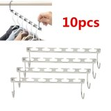 High Service 10Pcs Metal Wonder Magic Clothes Closet Hangers Clothing Hook Space Storage Organizer Intl Coupon Code