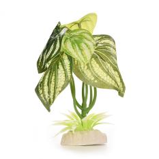 HKS Artificial Plastic Dragon leaves Plant Grass Aquarium Decor(Export)