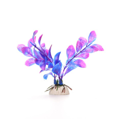HKS Realistic Plastic Plants Decorative Aquarium Fish Tank Purple(Export)
