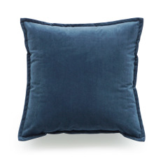 Hof Deco Decorative Throw Pillow Case Short Plush Velvet Navy Blue Solid Double Sides Cushion Cover 45X45 Cm Intl Review