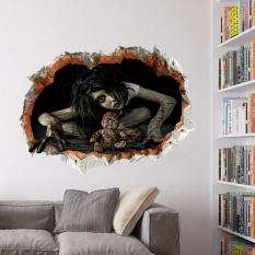 hogakeji 3D Wall Sticker,Halloween Wall Decor Sticker Household Room Wall Floor Sticker Mural Decor Decal Removable - intl