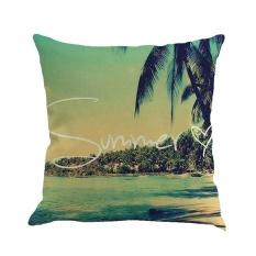 hogakeji Square Sofa Pillow Covers, Pawaca Linen Throw Pillowcase Cover 18 X 18 Home Sofa Car Decorative Cushion Covers - intl