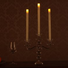 12 Inches Melted Led Taper Candles With Timer Battery Operated Ivory Pack Of 3 Free Shipping